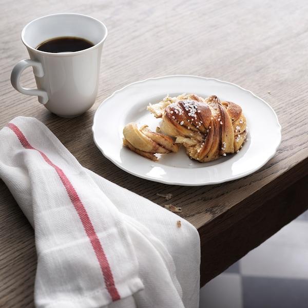 UPPLAGA Dessertteller, weiß, 22 cm