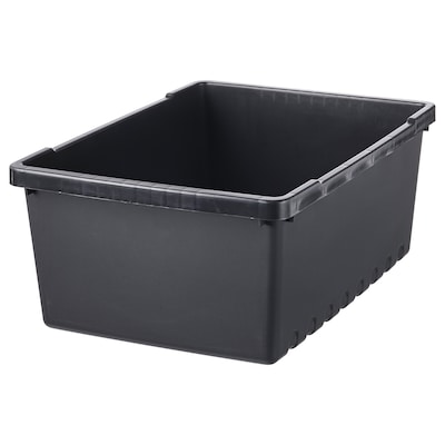 UPPSNOFSAD Box, schwarz, 35x25x14 cm/9 l