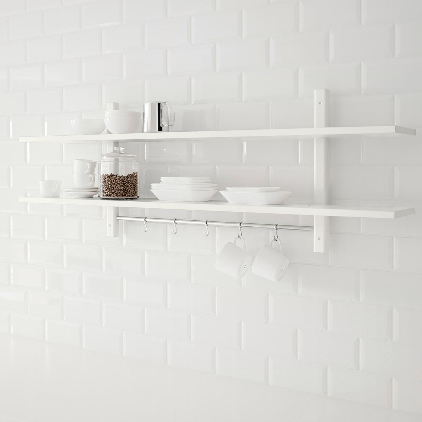 Varde Wandregal Mit 5 Haken Weiss Ikea Deutschland
