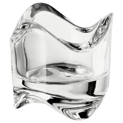 VÄSNAS Teelichthalter, Klarglas, 6 cm