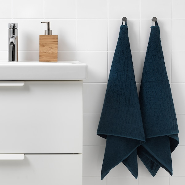 VÅGSJÖN Handtuch dunkelblau 100 cm 50 cm 0.50 m² 400 g/m²