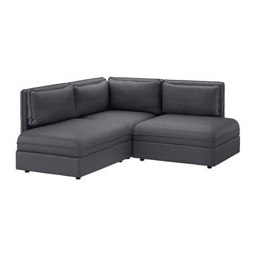 vallentuna 3er ecksofa hillared dunkelgrau ikea. Black Bedroom Furniture Sets. Home Design Ideas