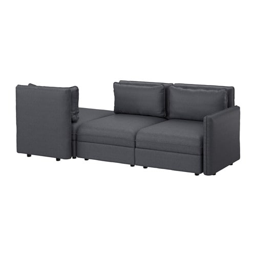 vallentuna 3er sofa hillared dunkelgrau ikea. Black Bedroom Furniture Sets. Home Design Ideas