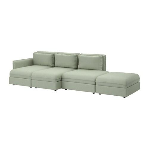 vallentuna 4er sofa hillared gr n ikea. Black Bedroom Furniture Sets. Home Design Ideas