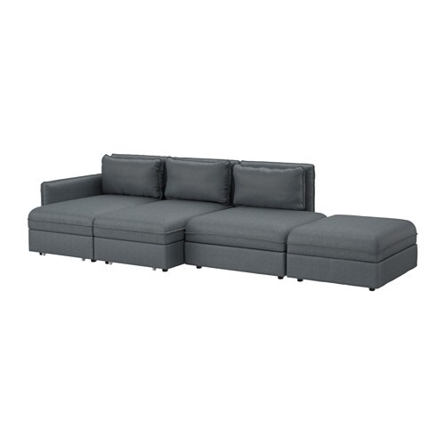 vallentuna 4er sofa mit bett hillared dunkelgrau ikea. Black Bedroom Furniture Sets. Home Design Ideas