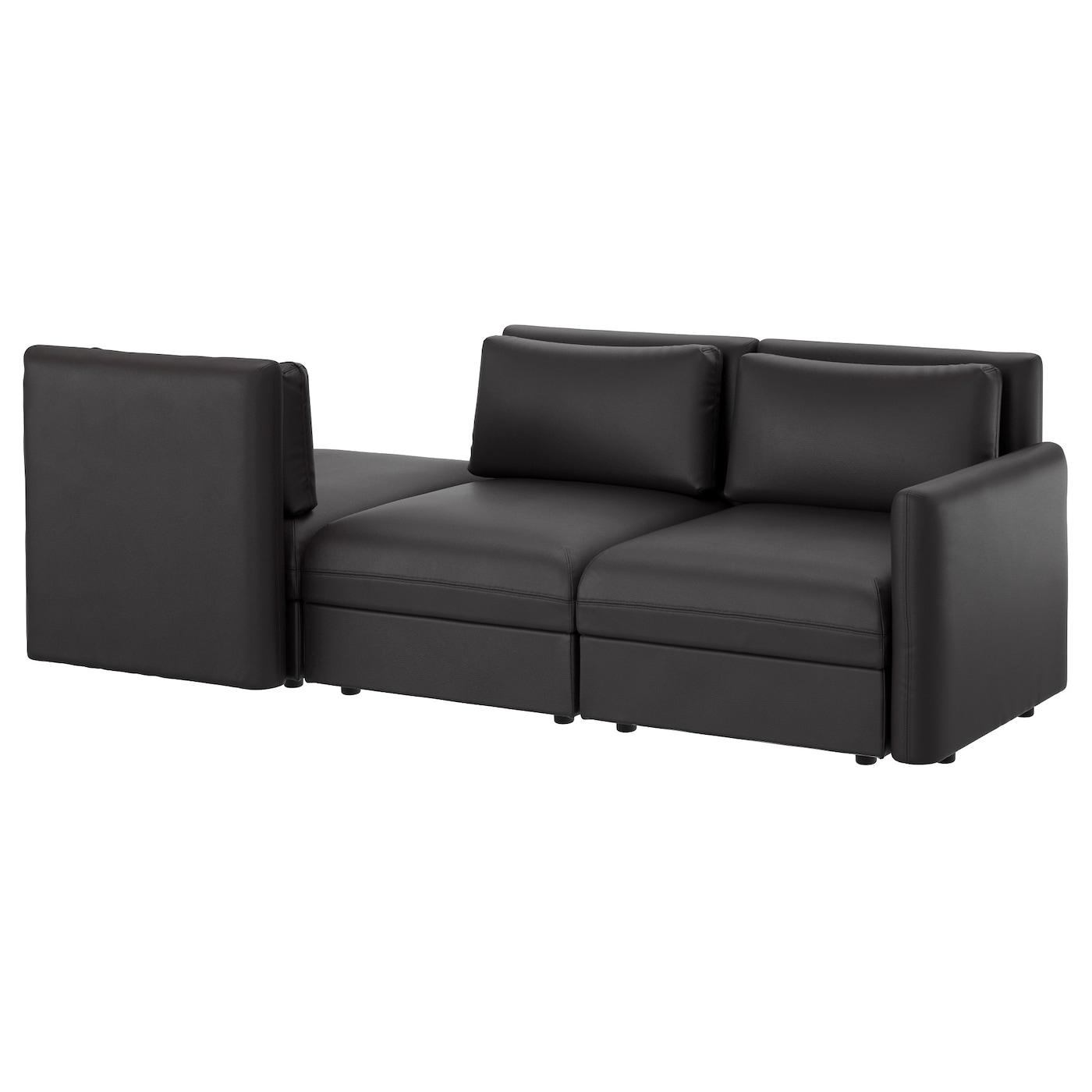 VALLENTUNA, 3er-Sofa, Murum schwarz, schwarz 191.626.05