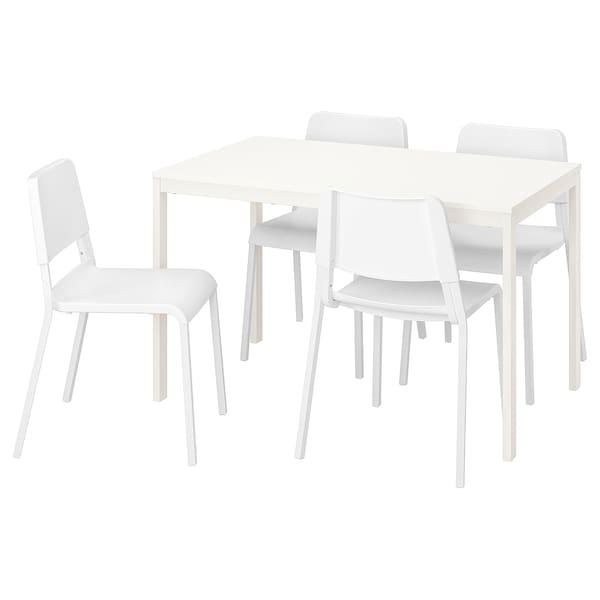 Vangsta Teodores Tisch Und 4 Stuhle Weiss Weiss Ikea Deutschland