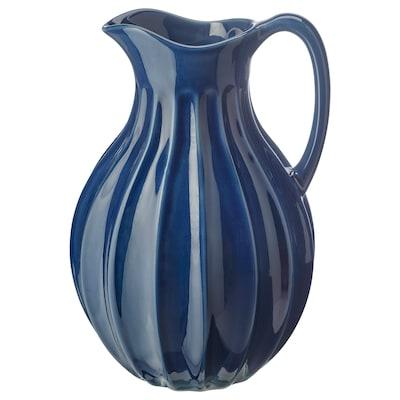 VANLIGEN Kanne/Vase, blau, 26 cm