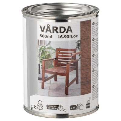 VÅRDA Holzlasur für draußen braun 10 m² 500 ml