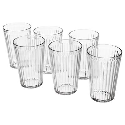 VARDAGEN Glas Klarglas 13 cm 43 cl 6 Stück