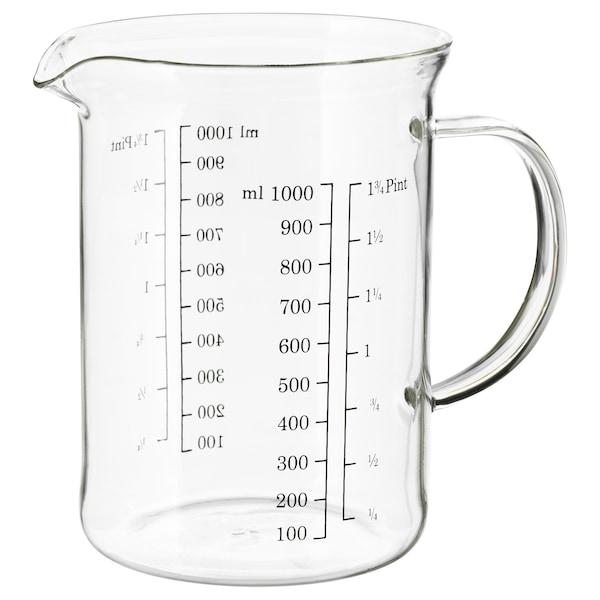 VARDAGEN Messbecher, Glas, 1.0 l