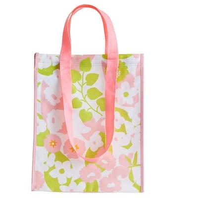 VÅRKÄNSLA Tasche, rosa Blume, 30x38 cm
