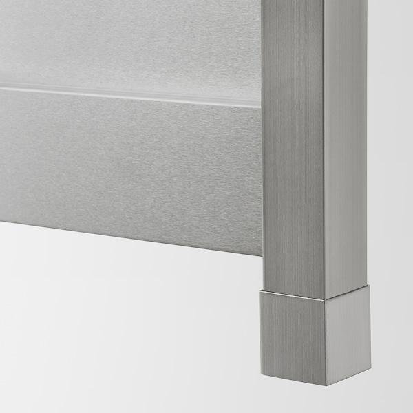 VÅRSTA Deckseite mit Beinen, Edelstahl, 62x88 cm