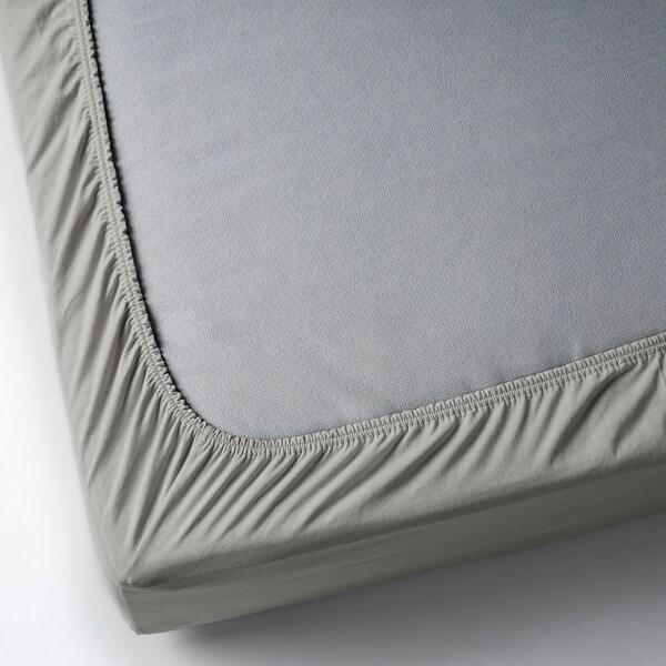 VÅRVIAL Spannbettlaken, hellgrau, 120x200 cm