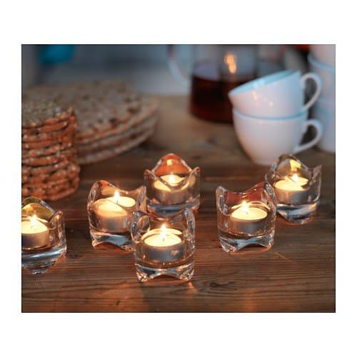 10 x ikea v snas kerzenhalter teelichthalter glas teelichtgl ser tischdeko neu traumfabrik xxl. Black Bedroom Furniture Sets. Home Design Ideas