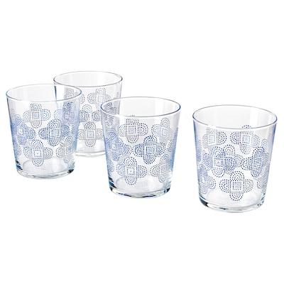 VATTENDANS Glas, Glas/gemustert, 30 cl