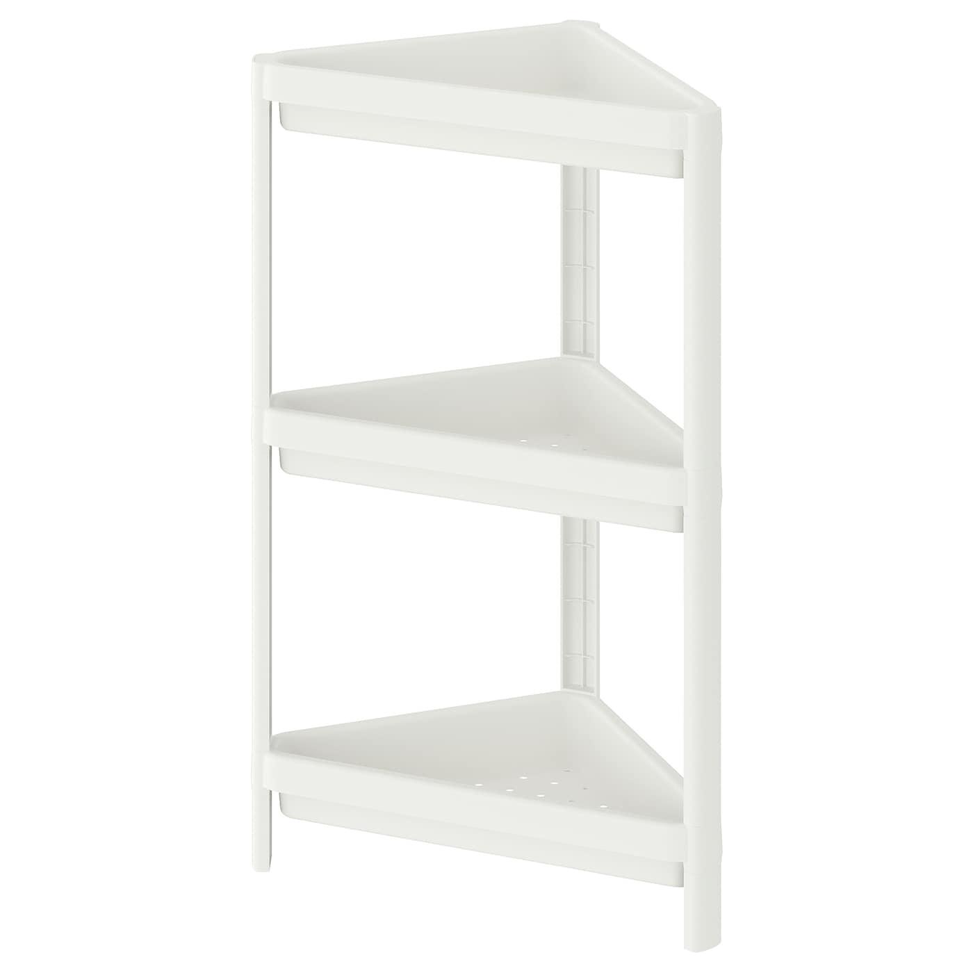 VESKEN Eckregal - weiß 12x12x12 cm