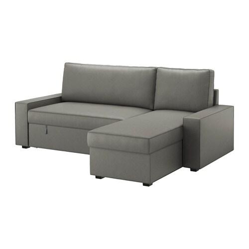 Bettsofa ikea  VILASUND Bettsofa/Recamiere - Hillared anthrazit - IKEA