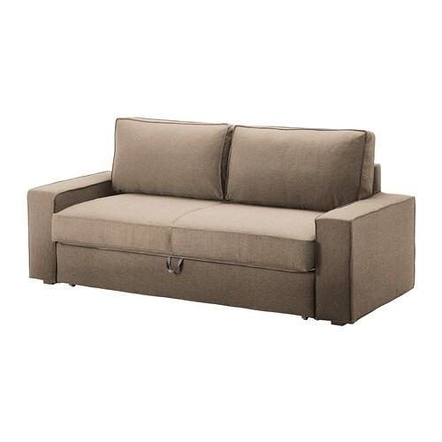 vilasund bezug 3er bettsofa dansbo beige ikea. Black Bedroom Furniture Sets. Home Design Ideas