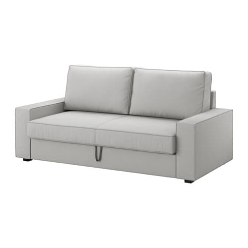 Vilasund 3er bettsofa orrsta hellgrau ikea for Sofa angebote