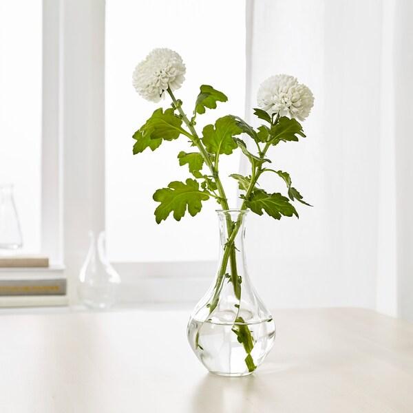 VILJESTARK Vase Klarglas 17 cm