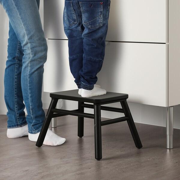 VILTO Badezimmerhocker schwarz 40 cm 32 cm 25 cm 100 kg