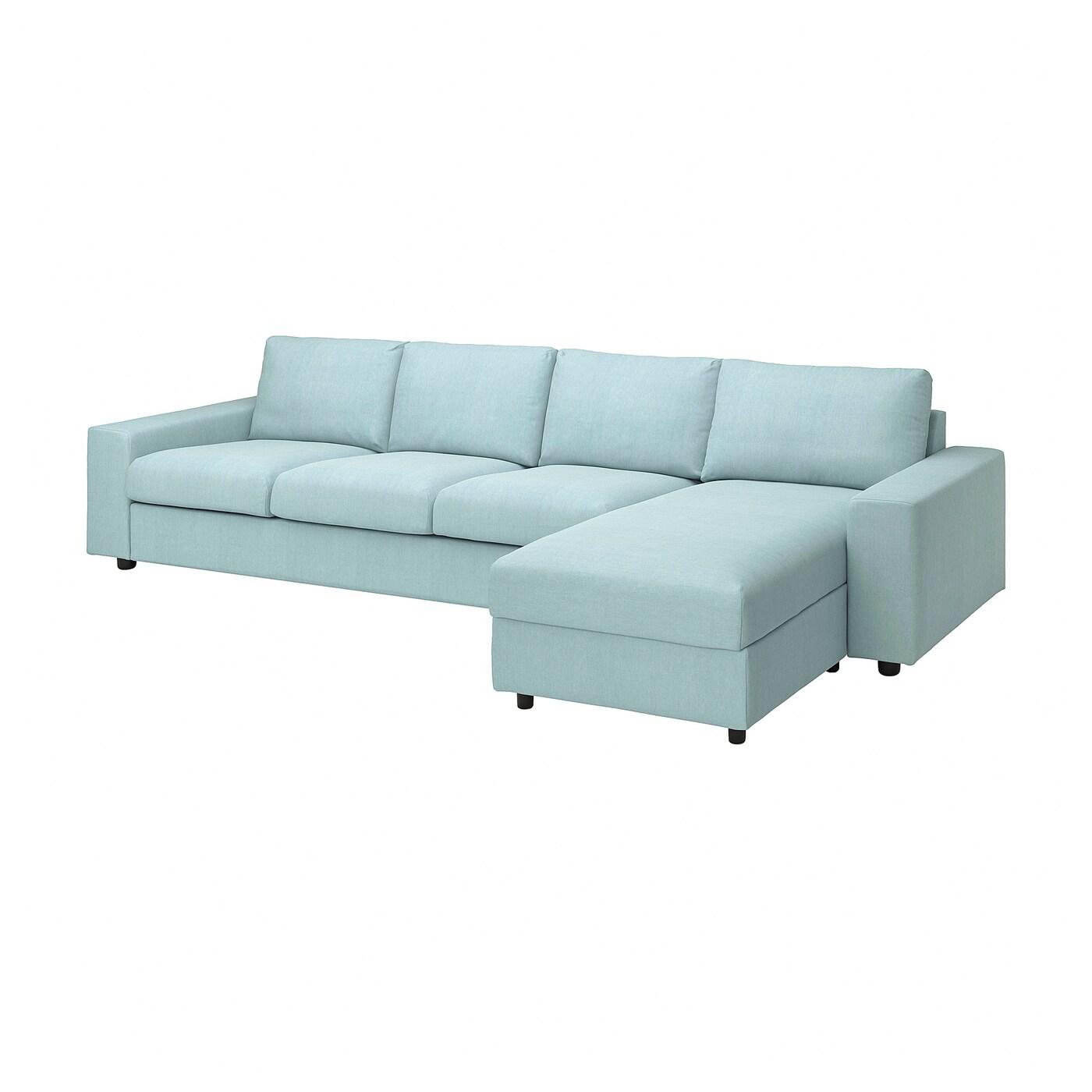 VIMLE 4er-Sofa mit Récamiere
