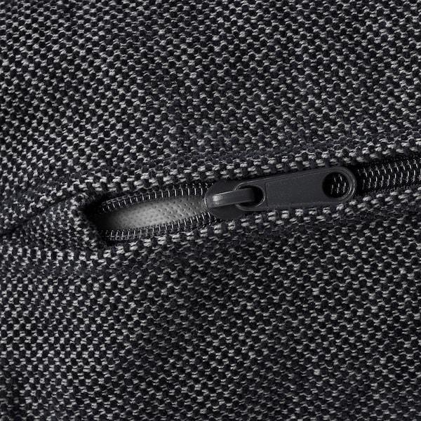 VIMLE Bezug für Récamiere Tallmyra schwarz/grau 83 cm 68 cm 111 cm 164 cm 6 cm 81 cm 125 cm 48 cm