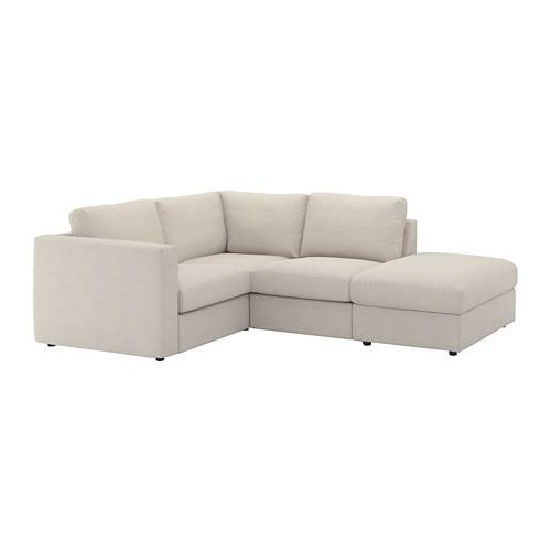 VIMLE Ecksofa 3-sitzig - ohne Abschluss/Gunnared beige - IKEA