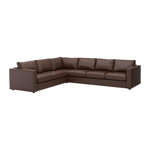 vimle ecksofa 5 sitzig farsta dunkelbraun ikea. Black Bedroom Furniture Sets. Home Design Ideas