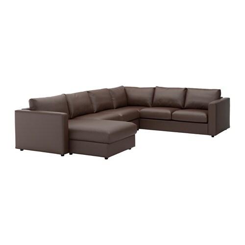 vimle ecksofa 5 sitzig mit r camiere farsta dunkelbraun. Black Bedroom Furniture Sets. Home Design Ideas