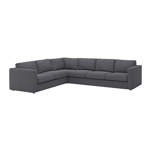 vimle ecksofa 5 sitzig gunnared mittelgrau ikea. Black Bedroom Furniture Sets. Home Design Ideas