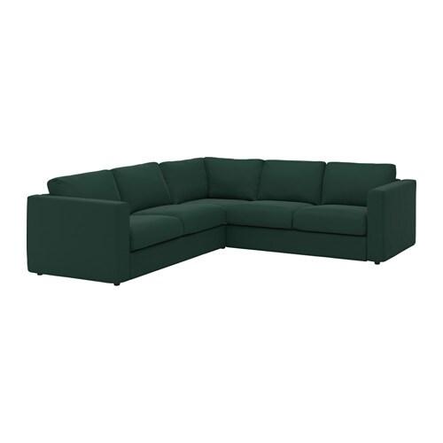vimle ecksofa 4 sitzig gunnared dunkelgr n ikea. Black Bedroom Furniture Sets. Home Design Ideas