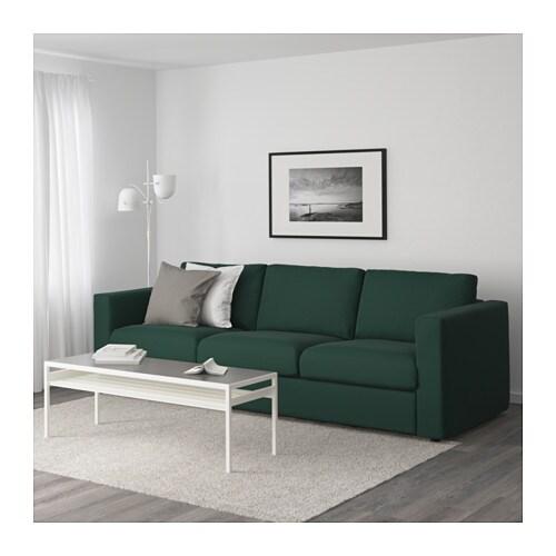 Vimle 3er Sofa Gunnared Dunkelgrun Ikea