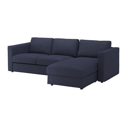 Vimle 3er Sofa Mit Récamiereorrsta Schwarzblau Ikea
