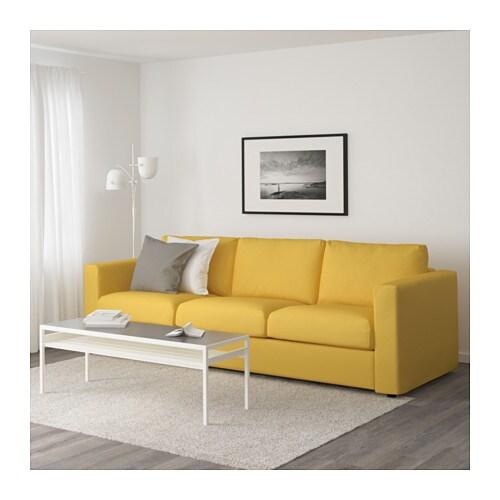 VIMLE 3er-Sofa - Orrsta goldgelb - IKEA