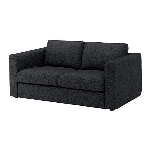 vimle 2er sofa tallmyra schwarz grau ikea. Black Bedroom Furniture Sets. Home Design Ideas