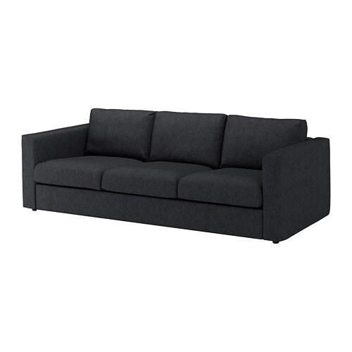 vimle 3er sofa tallmyra schwarz grau ikea. Black Bedroom Furniture Sets. Home Design Ideas