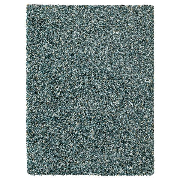 VINDUM Teppich Langflor, blaugrün, 133x180 cm
