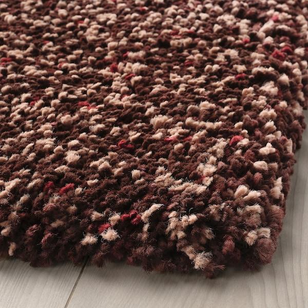 VINDUM Teppich Langflor, braun, 133x180 cm