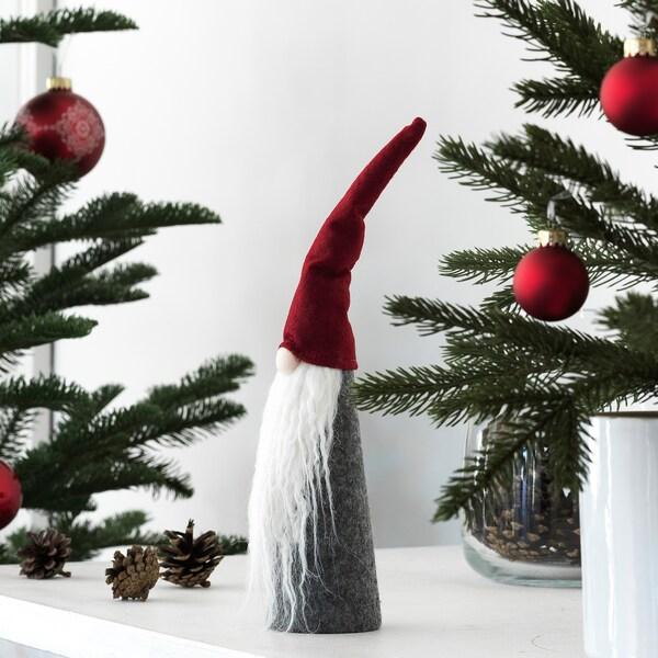 VINTER 2020 Dekoration, kegelförmig/Weihnachtsmann grau, 31 cm