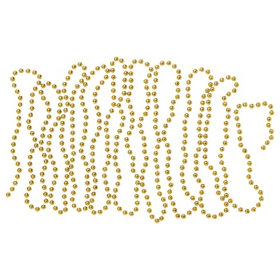 VINTER 2020 Girlande, Perlen goldfarben, 5 m