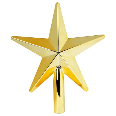 VINTER 2020 Weihnachtsbaumspitze, goldfarben, 24 cm
