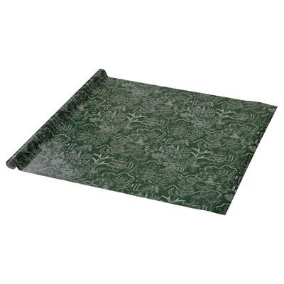 VINTER 2021 Geschenkpapierrolle, Blattmuster grün, 3x0.7 m
