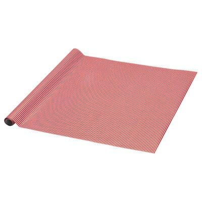 VINTER 2021 Geschenkpapierrolle, Streifen rot/weiß, 3x0.7 m