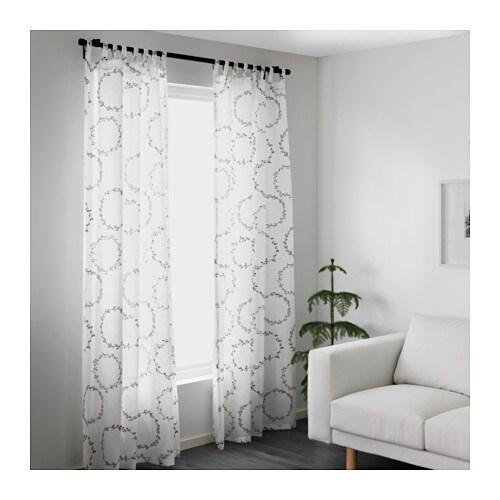 Ikea Folding Table Drop Leaf ~ IKEA VINTER 2016 Gardinenpaar 145×300 cm weiß grau Gardinen Vorhang