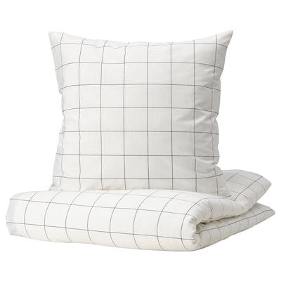 NYPONROS IKEA 2er BETTWÄSCHE SET 155x220 HOCHWERTIG BLAU//WEISS ANSCHAUEN