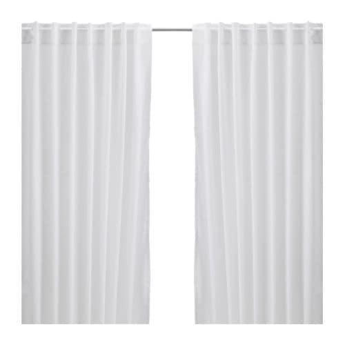 ikea 2 gardinenschals gardinenschal vorhang schlaufenschal gardine wei neu ovp ebay. Black Bedroom Furniture Sets. Home Design Ideas