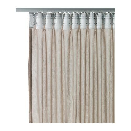 ikea 2 gardinenschals gardinenschal vorhang schlaufenschal gardine beige neu ovp traumfabrik xxl. Black Bedroom Furniture Sets. Home Design Ideas