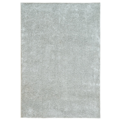 VONGE Teppich Langflor, hellgrau, 133x195 cm